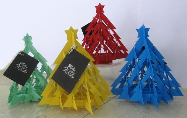 Handmade 3D Xmas Tree Cards